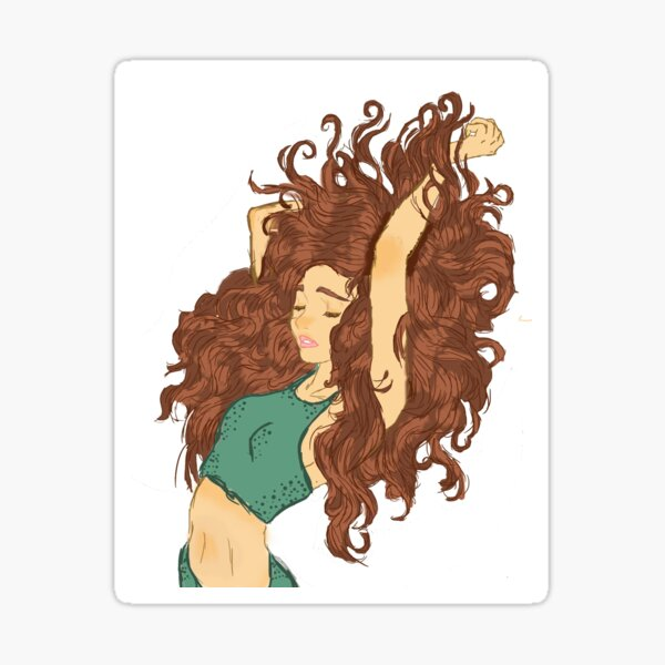Curly Hair Stickers Redbubble