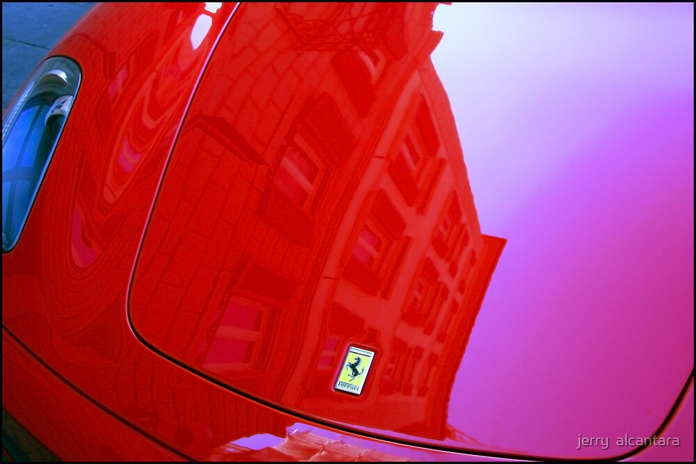 Ferrari car reflection by jerry  alcantara