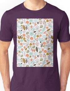 Hand Drawing Floral Pattern Unisex T-Shirt