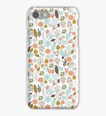 Hand Drawing Floral Pattern iPhone Case/Skin