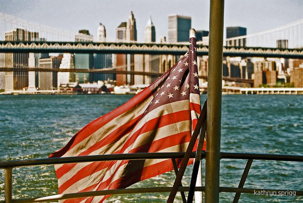 american flag by kathryn sprigg