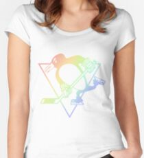 Pittsburgh Penguins Pride  Women's Fitted Scoop T-Shirt