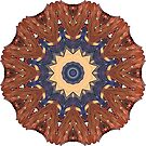 Brown Star Mandala by Giselle Luske