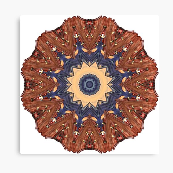 Brown Star Mandala Canvas Print
