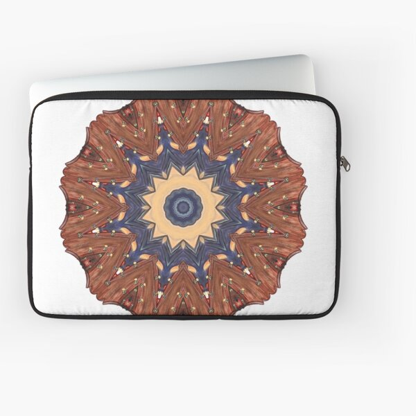 Brown Star Mandala Laptop Sleeve