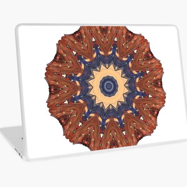 Brown Star Mandala Laptop Skin
