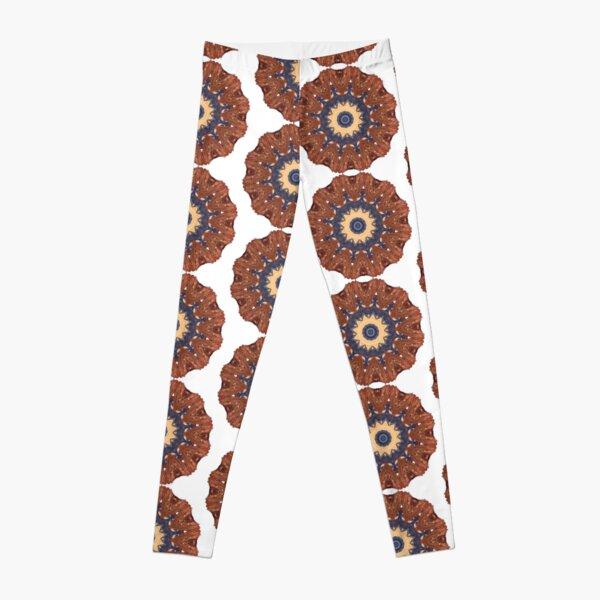 Brown Star Mandala Leggings
