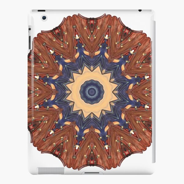 Brown Star Mandala iPad Snap Case