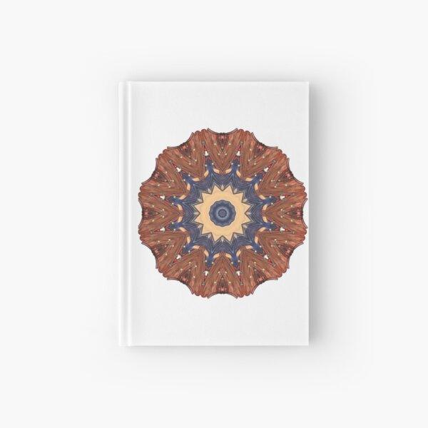 Brown Star Mandala Hardcover Journal