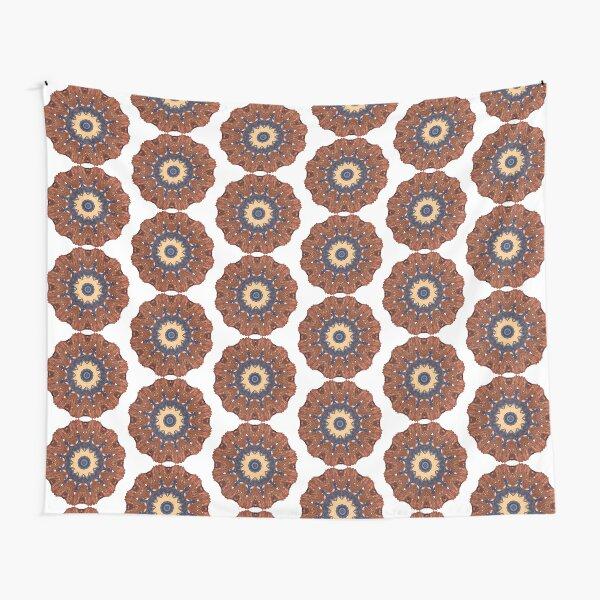 Brown Star Mandala Tapestry