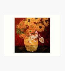 Catmasutra - Sunflowers Art Print