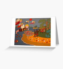 angels in the Pacific islands Greeting Card