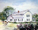 Sunlit Farmhouse by Marsha Woods
