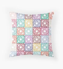 Maze Colorful Seamless Pattern Throw Pillow