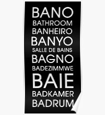 Bathroom - Multiple Languages Poster