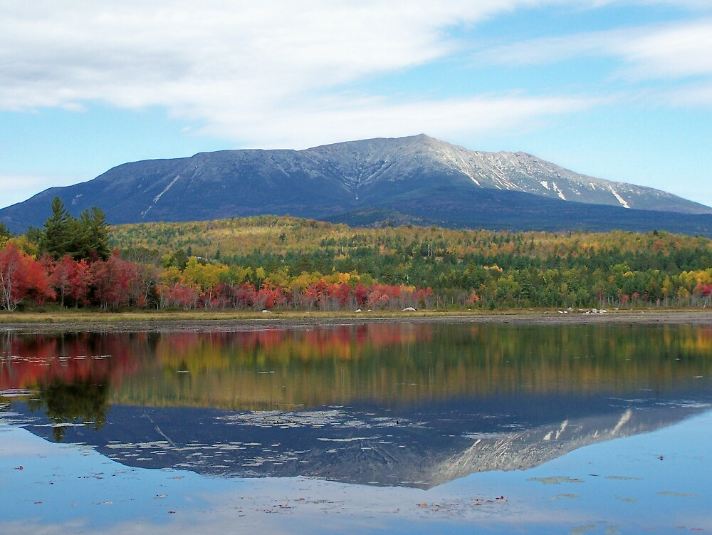 Mount Katahdin Fall by Gene Cyr