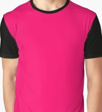 Solid Color Hot Pink Graphic T-Shirt