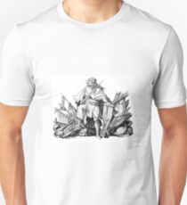 Young Heroic Knight with Sword after Battle T-Shirt