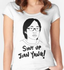 Silicon Valley - Shut Up Jian Yang  Women's Fitted Scoop T-Shirt