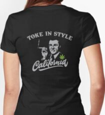 Men's T Shirt - California Toke In Style back Womens Fitted T-Shirt