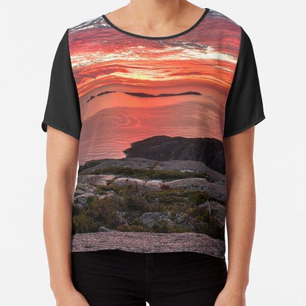 Mt Oberon Sunset Chiffon Top