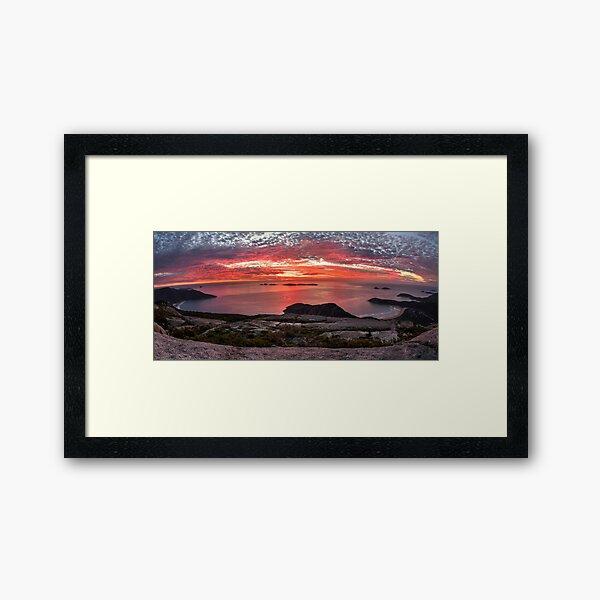 Mt Oberon Sunset Framed Art Print