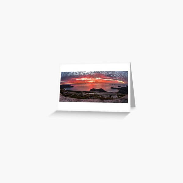 Mt Oberon Sunset Greeting Card