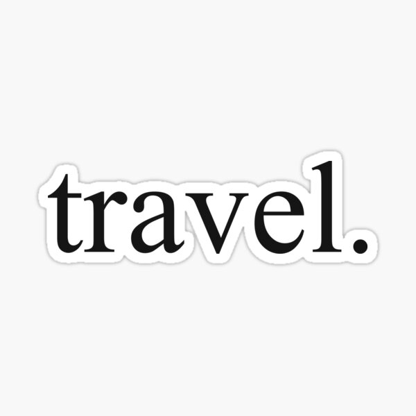 travel. Sticker