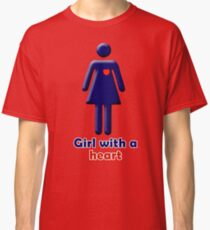 Girl with a heart Classic T-Shirt