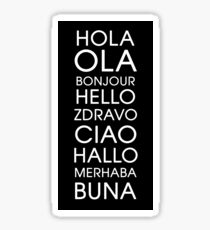 Hello - Multiple Languages Sticker