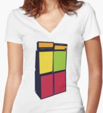 Pyramid Amps Women's Fitted V-Neck T-Shirt