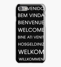 Welcome - Multiple Languages iPhone Case/Skin