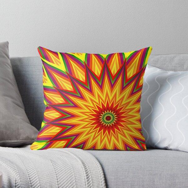 Fractal Sunflower Throw Pillow