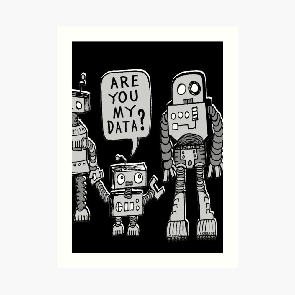 ¿Mis datos? Niño robot Lámina artística