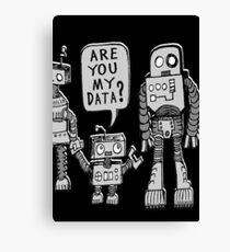 My Data? Robot Kid Canvas Print