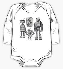 Body de manga larga para bebé ¿Mis datos? Niño robot