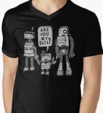 My Data? Robot Kid Men's V-Neck T-Shirt