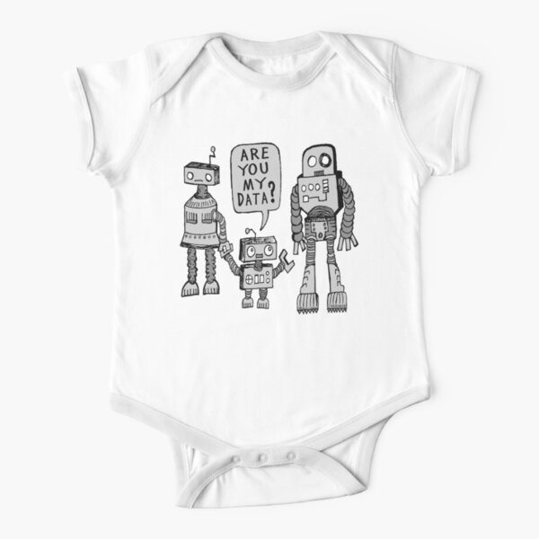 My Data? Robot Kid Short Sleeve Baby One-Piece