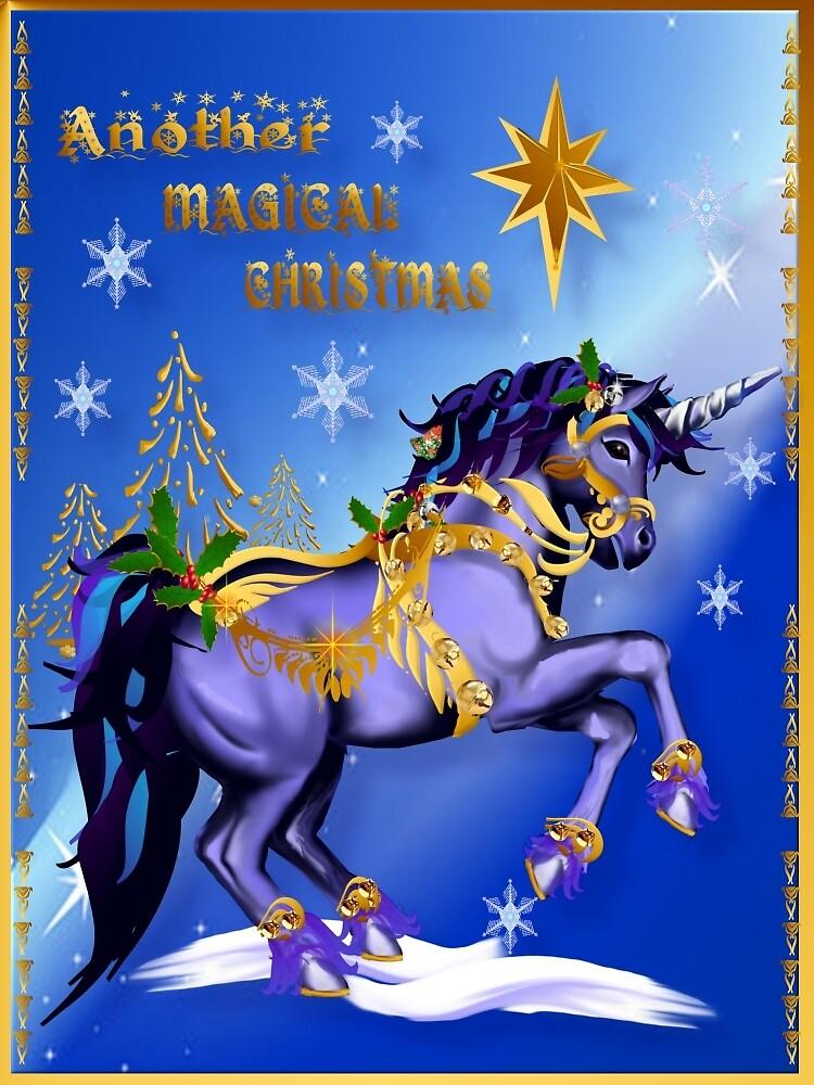 Bright Christmas Unicorn  by Lotacats