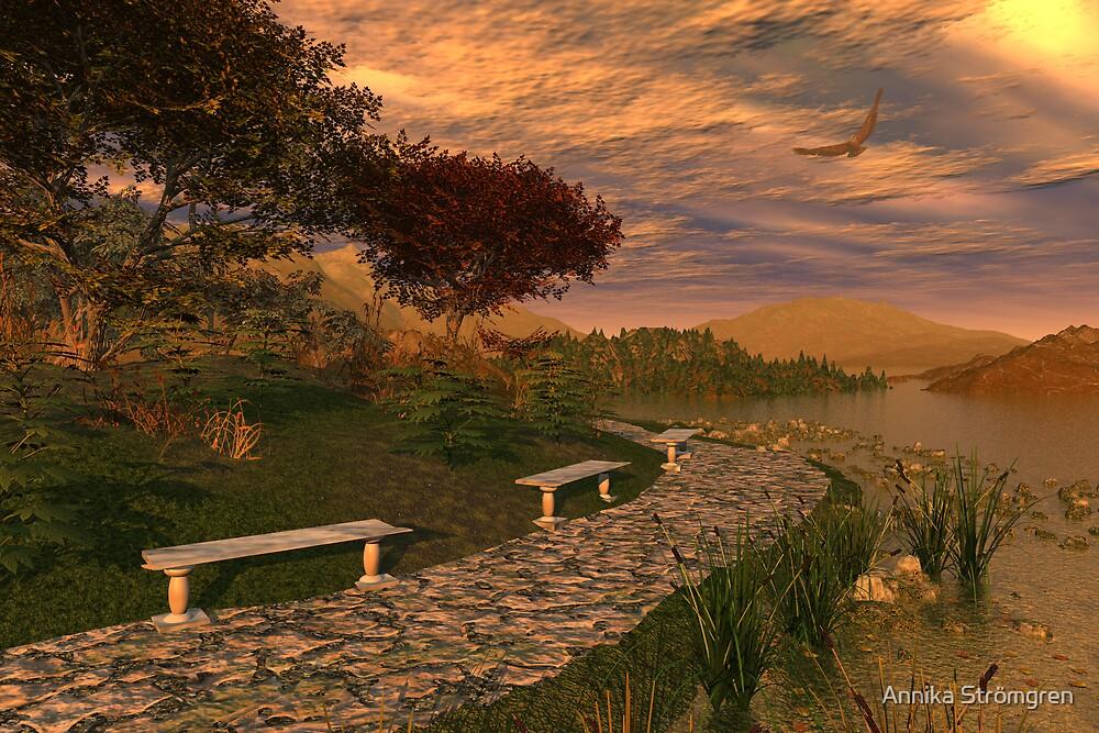 Sunset on the lake by Annika Strömgren
