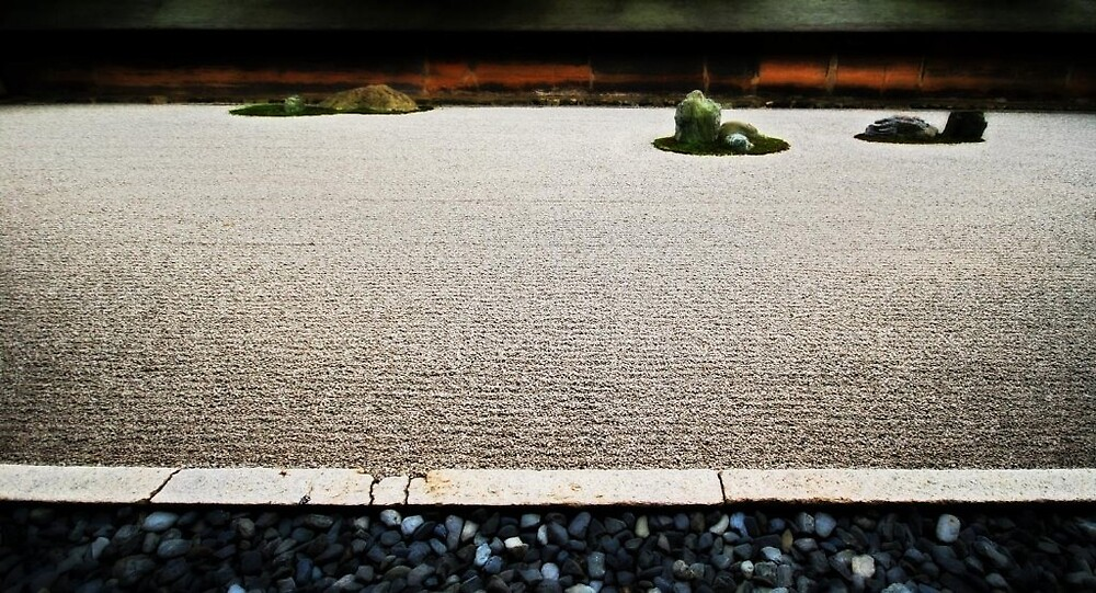Ryoanji Temple - Kyoto (Rock Garden) by Trishy