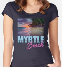 By The Shore Myrtle Beach South Carolina Women's Fitted Scoop T-Shirt