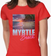 By The Shore Myrtle Beach South Carolina Womens Fitted T-Shirt