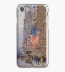 Childe Hassam - Flags On The Waldorf (1916) iPhone Case/Skin