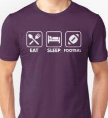 Eat, Sleep, Football. Unisex T-Shirt
