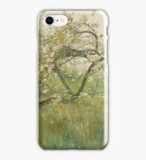 Childe Hassam - Peach Blossoms—villiers-Le-Bel iPhone Case/Skin