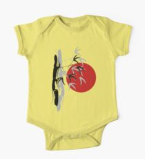 Oriental Zen Bamboo And Red Sunset Kids Clothes