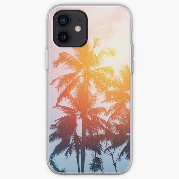Beach sunset at the coast line iPhone Soft Case