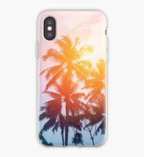 Beach sunset at the coast line iPhone Case