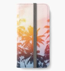 Beach sunset at the coast line iPhone Wallet/Case/Skin